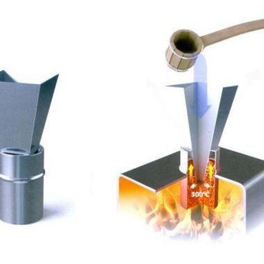 Схема використання парогенератора Кратер
