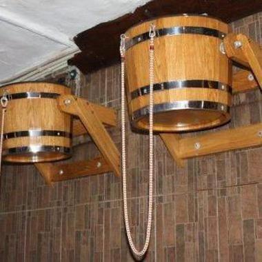 Відро - водоспад для сауни
