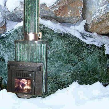 Дымоход конвектор в змеевике для печей в баню