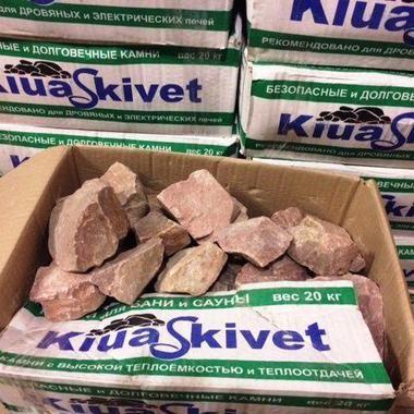 Малиновий кварцит камінь для лазні