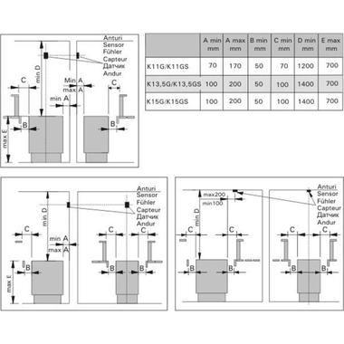 Схема приєднувальних розмірів електрокам'янок класу Harvia Club