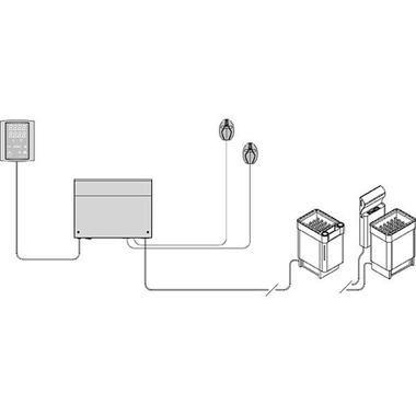 Схема пульта керування Harvia Griffin CG в сауну та лазню