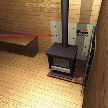 Теплоізоляція для печі в лазню - Мінерит ЛВ Сауна